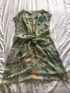 Tropical Print Beach coverup dress