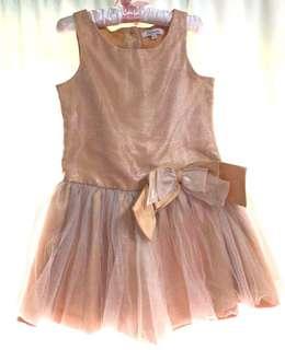 Periwinkle Elegant Gold Dress
