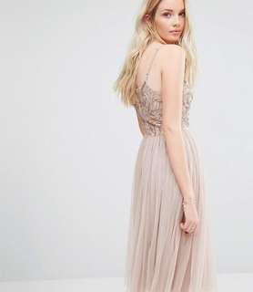 Maya Cami Strap Strappy Sequin Embellished Maxi Gown in Copper