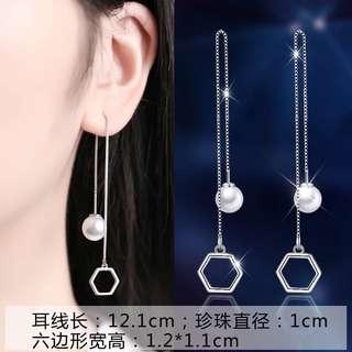 🚚 (現貨)女神純銀五邊形耳環