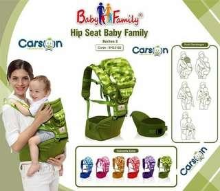 Gendongan bayi hipseat baby family ungu