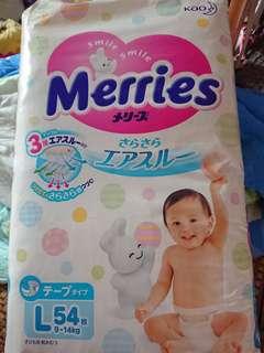 Merries尿片L54/Merries拉拉褲L44