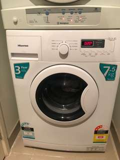 HISENSE 7.5KG Front Loader washing machine