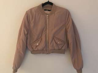 Misguided Cropped Bomber Jacket
