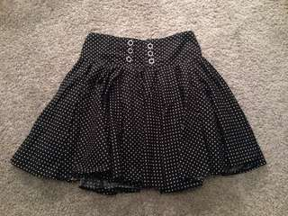 Black White Dots Skirt