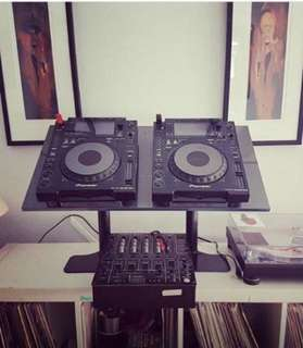 Custom made DJ Workstations.  Standard workstation for CDJ 2000