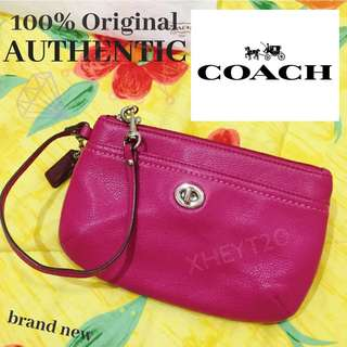 Authentic Coach Wristlet Pouch Wallet