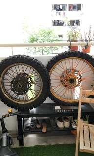Takasago excel offroad wheel set with tyres
