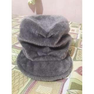 Gray Fur Hat