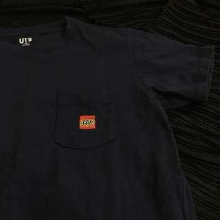 🚚 Uniqlo LEGO 樂高聯名款小logo深藍色上衣 T恤