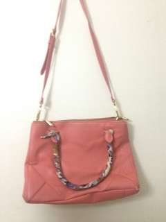 Salmon pink shoulder bag