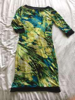 CLN Printed 3/4 sleeved dress