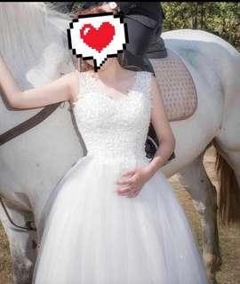 婚禮用品 平腳修腰婚紗