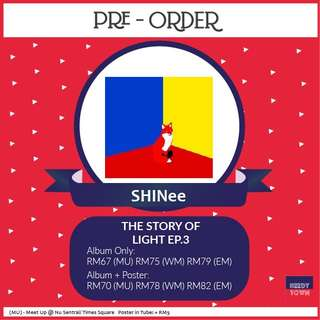 (PRE-ORDER) SHINee - THE STORY OF LIGHT EP.3
