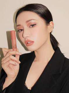 🚚 (保留待下標)3CE soft lip lacquer 絲柔霧面唇膏(peach tea)