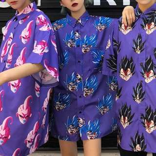 七龍珠 紫色 悟空 貝吉塔 粉布歐 童趣 襯衫 ㄎㄧㄤ爆