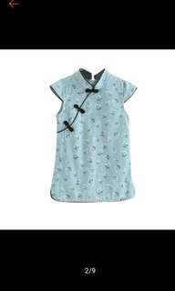 Traditional Chinese blue floral Cheongsam