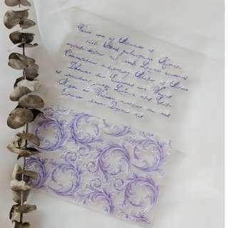 Clear Stamps - Vintage Words