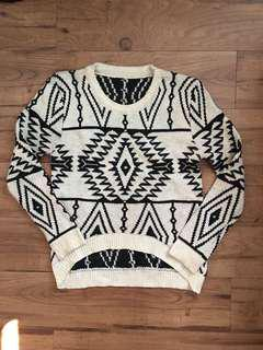Knitted Aztec Print Sweater