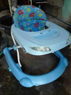RAINY DAY SALE! Blue Baby Walker(2nd hand) Brand: Happy Dino
