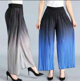 Pleated acid color square pants/ cullotes