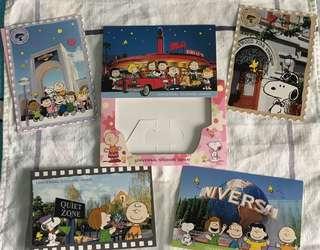Snoopy universal studios post card