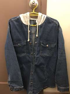 H&M denim jacket w/ hood