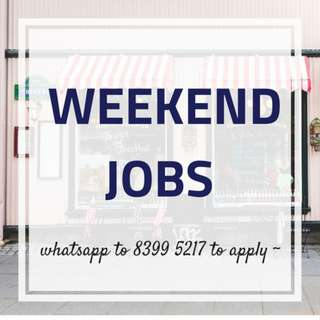 WEEKEND ONLY JOBS!!! ✚ RETAIL EXEC  ✚ $850/MONTH + INCENTIVES ✚ 22HRS/WEEK ONLY  ✚ MANY LOCATIONS