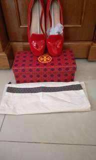 tory burch flat shoes size 7m
