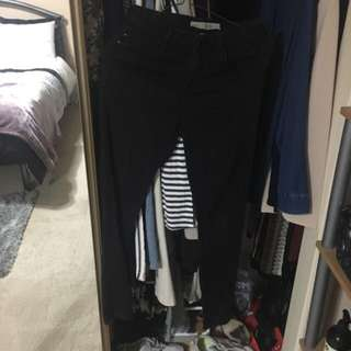 TOPSHOP LEIGH BLACK SKINNY JEANS GREAT CONDITION W25 SIZE 6-8