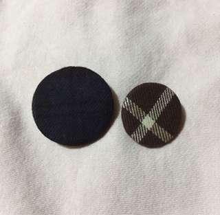 Korean Cloth Button Pin