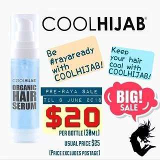 (CLEARANCE SALE!!) (LIMITED INSTOCKS AVAIL!!) Authentic Cool Hijab Hair Cooling Serum 30ml (ONLY VIA MAILING)