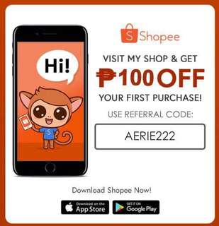 SHOPEE-100 OFF ON FIRST ORDER