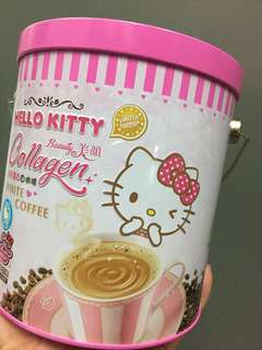 Hello Kitty (limited Edition) white coffee Collagen with cup collection