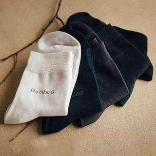 Plain comfortable bamboo fabric socks
