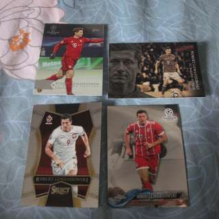 Robert Lewandowski Topps/Panini trading cards for sale/trade (Lot of 4 cards)