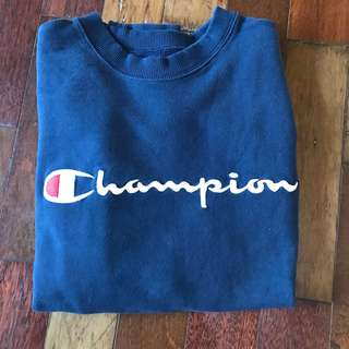 champion script bordir crewneck