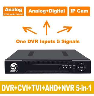 (229) JOOAN 4CHannel 1080N 5 in 1(Compatible TVI,CVI,AHD,CBVS,IPC) CCTV DVR, H.264 NO HDD Security Surveillance Video Record (Full 960H, 1080P HD-Output/VGA/BNC Output, Smartphone& PC Easy Remote Access)