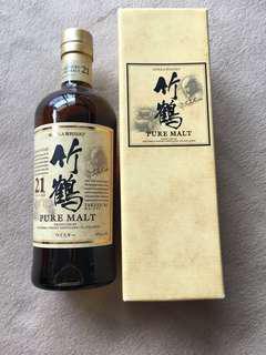 竹鶴21 竹鶴21年 日本威士忌 Nikka 700ml 日本直送 已停產絕版