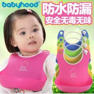 Silicone waterproof baby bib Babyhood