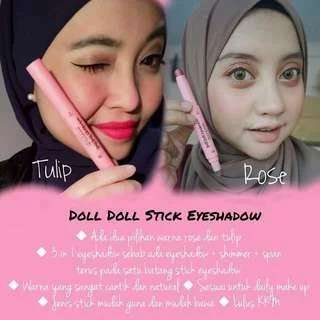 (INSTOCK AVAIL) Authentic Pipi Pink Doll Stick Blusher & Doll Doll Eyeshadow Stick PO