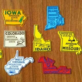 US State Map Ref/ Fridge Magnet