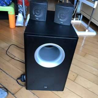Canton Movie CX 60 (one subwoofer and 2 satellite speakers)