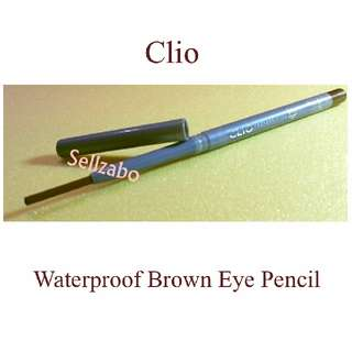 Used Eyes Liner : Clio Waterproof Eyeliner Pencil Sellzabo Makeup Cosmetics Brown Colour Eyesliner