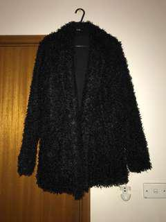 Fluffy black jacket