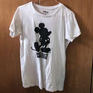 正版 米奇 迪士尼 白色 短袖 短T 上衣
