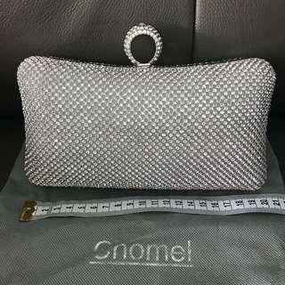 Authentic Chomel rhinestones evening clutch