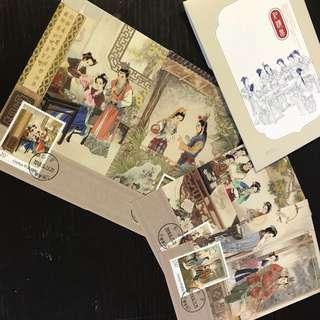 中國 紅樓夢(三)精裝版極限明信片