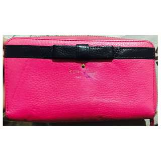 Original Kate Spade Pebbled Leather Zipped long wallet