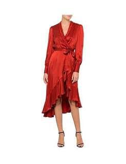 Zimmermann Sueded Silk Wrap Dress
